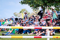 Great crowds during the Weatherbeeter CIC2* - Waiteko Trophy Championship Show Jumping. 2018 NZL-Kihikihi International Horse Trial. Sunday 8 April. Copyright Photo: Libby Law Photography