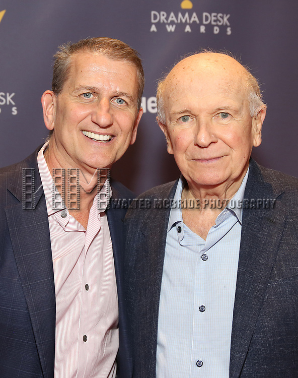 Tom Kirdahy and Terrence McNally attends the 2017 Drama Desk Awards at Town Hall on June 4, 2017 in New York City.