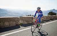 Enrico Gasparotto (ITA/Wanty-Groupe Gobert) up the mountain<br /> <br /> Team Wanty - Groupe Gobert 2015 training camp