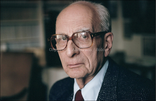 Claude Levi-Strauss at home in Paris.