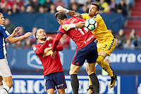 Xisco (forward; CA Osasuna) during the Spanish la League soccer match between CA Osasuna and Lorca FC at Sadar stadium, in Pamplona, Spain, on Saturday, <br /> May 27, 2018.