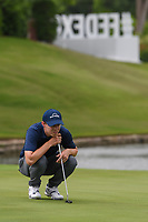 Matt Fitzpatrick (ENG) lines up his birdie putt on 16 during round 1 of the 2019 Charles Schwab Challenge, Colonial Country Club, Ft. Worth, Texas,  USA. 5/23/2019.<br /> Picture: Golffile | Ken Murray<br /> <br /> All photo usage must carry mandatory copyright credit (© Golffile | Ken Murray)