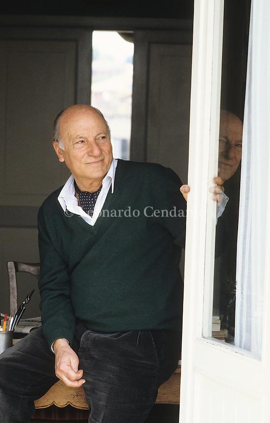 Raffaele La Capria, writer napoletano, vive a Roma,  © Leonardo Cendamo