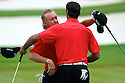 Miguel Angel Jimenez and Alvaro Quiros of Spain during the third round of the Omega Mission Hills World Cup played at The Blackstone Course, Mission Hills Golf Club on November 26th in Haikou, Hainan Island, China.( Picture Credit / Phil Inglis )