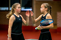 Wateringen, The Netherlands, December 15,  2019, De Rhijenhof , NOJK juniors doubles 12/14/16  years, Pleun Splinter (NED) and Senna van den Heuvel (NED) (R)<br /> Photo: www.tennisimages.com/Henk Koster