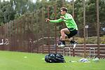 07.09.2017, Trainingsgelaende, Bremen, GER, 1.FBL, Training SV Werder Bremen<br /> <br /> im Bild<br /> Niklas Moisander (Werder Bremen #18) bei individuellem Training, Moisander &uuml;berspringt H&uuml;rde, <br /> <br /> Foto &copy; nordphoto / Ewert