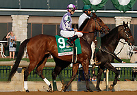 "October 07, 2018 : #9 Skeptic and jockey Brian Hernandez Jr. in the 63rd running of The Juddmonte Spinster (Grade 1) $500,000 ""Win and You're In Breeders' Cup Distaff Division"" at Keeneland Race Course on October 07, 2018 in Lexington, KY.  Candice Chavez/ESW/CSM"