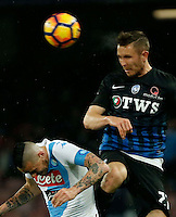Jasmin Kurtic  during the  italian serie a soccer match,between SSC Napoli and Atalanta      at  the San  Paolo   stadium in Naples  Italy , February 26, 2017