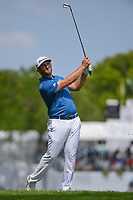 Jon Rahm (ESP) watches his approach shot on 10 during round 1 of the 2019 Charles Schwab Challenge, Colonial Country Club, Ft. Worth, Texas,  USA. 5/23/2019.<br /> Picture: Golffile | Ken Murray<br /> <br /> All photo usage must carry mandatory copyright credit (© Golffile | Ken Murray)
