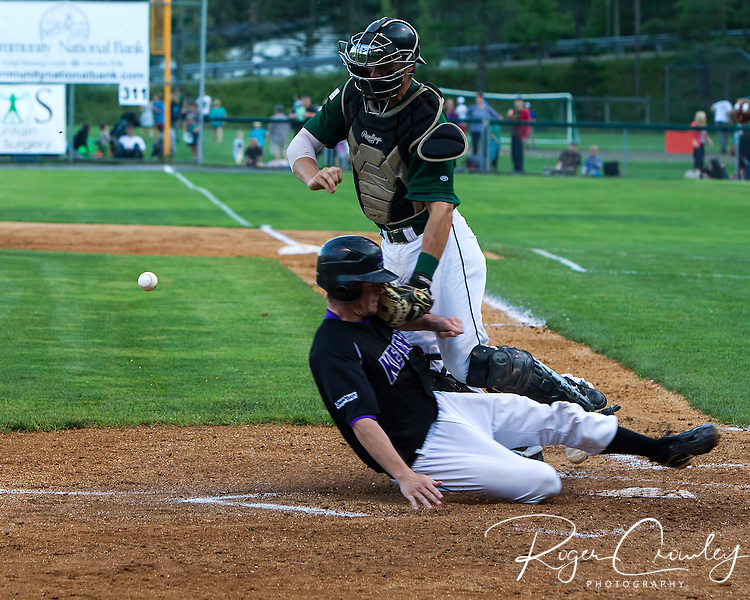 Vermont Mountaineers and Keene Swampbats battle in an NECBL game in Montpelier.