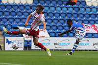 Ryan Jackson of Colchester United with a shot on goal during Colchester United vs Stevenage, Sky Bet EFL League 2 Football at the Weston Homes Community Stadium on 12th August 2017