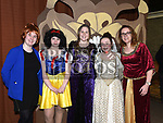 Sandra Goggins, Ava McGrath, Hannah Dunne, Katie McArdle and Michelle Graves who took part in the Togher Theatre Group's Panto Aladdin in St Mary's Hall Drumcar. Photo:Colin Bell/pressphotos.ie