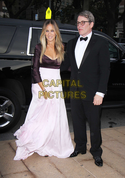 NEW YORK, NY-September 20:Matthew Broderick, Sara Jessica Parker at New York City Ballet Fifth Annual Fall Fashion Gala at Lincoln Center in New York. September 20, 2016. <br /> CAP/MPI/RW<br /> &copy;RW/MPI/Capital Pictures