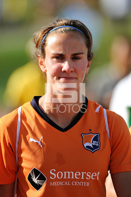 Keeley Dowling (17) of Sky Blue FC. The Philadelphia Independence defeated Sky Blue FC 2-1 during a Women's Professional Soccer (WPS) match at John A. Farrell Stadium in West Chester, PA, on June 6, 2010.