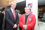 County Board Chairman, Padraic O'Connor with Mayor Paul Bell at the Civic Reception for Louth GAA Team in the dHotel....Picture Jenny Matthews/Newsfile.ie