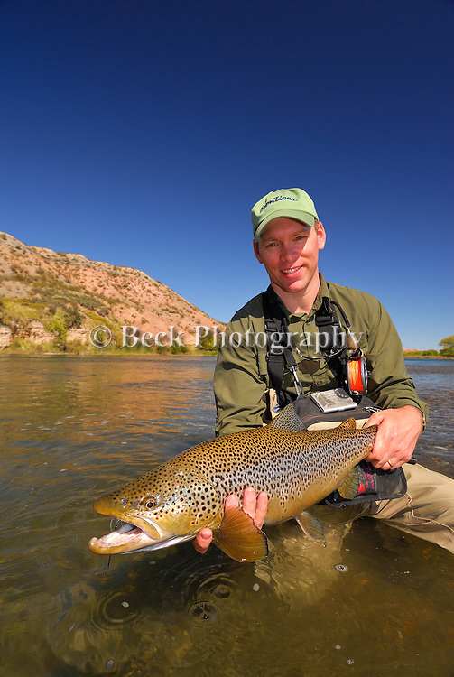 Ben Hoffman with a Brown trout