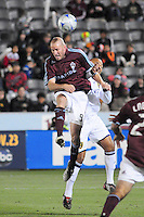 25 October 08: Rapids forward Conor Casey tries to control a loose ball against Real Salt Lake. Real Salt Lake tied the Colroado Rapids at Dick's Sporting Goods Park in Commerce City, Colorado. The tie advanced Real Salt Lake to the playoffs.