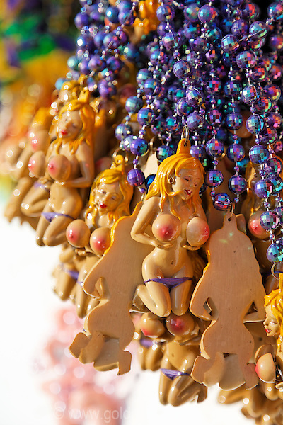 Sexy beaded necklaces ornaments. The Tiki Bar at Solomons Island, Maryland has a large party when it opens for the season in mid April.  It is sort of a local Mardi Gras