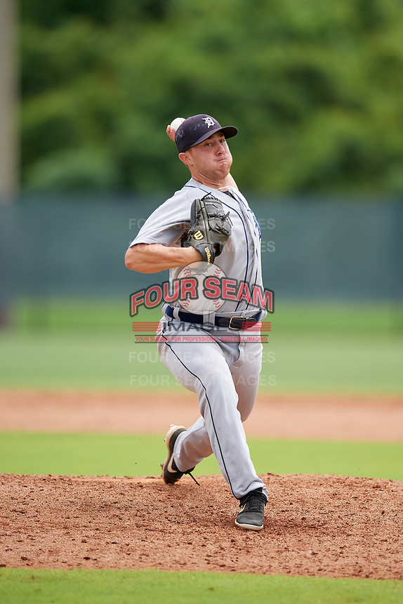 GCL Tigers West pitcher Doug Domnarski (19) during a Gulf Coast League game against the GCL Phillies West on July 27, 2019 at the Carpenter Complex in Clearwater, Florida.  (Mike Janes/Four Seam Images)
