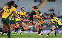 Charmaine Smith in action during the Laurie O'Reilly Memorial Trophy international women's rugby match between the New Zealand Black Ferns and Australia Wallaroos at Eden Park in Auckland, New Zealand on Saturday 25 August 2018. Photo: Simon Watts / lintottphoto.co.nz