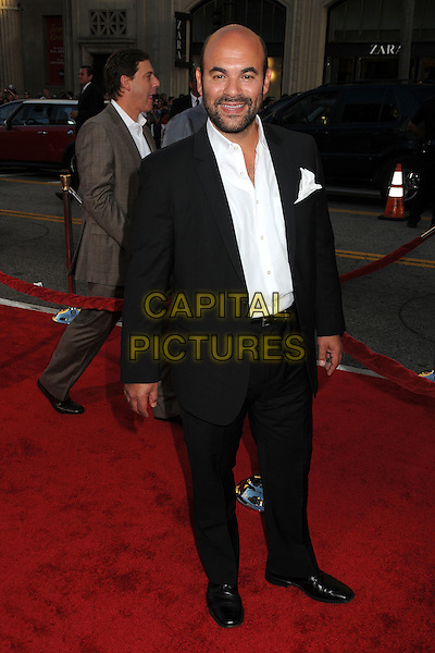 "Ian Gomez.""Larry Crowne"" Los Angeles Premiere held at Grauman's Chinese Theatre, Hollywood, California, USA..June 27th, 2011.full length suit shirt black white beard facial hair .CAP/ADM/BP.©Byron Purvis/AdMedia/Capital Pictures."