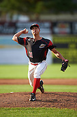 Batavia Muckdogs relief pitcher Ty Provencher (31) during the first game of a doubleheader against the Mahoning Valley Scrappers on August 17, 2016 at Dwyer Stadium in Batavia, New York.  Mahoning Valley defeated Batavia 10-3. (Mike Janes/Four Seam Images)