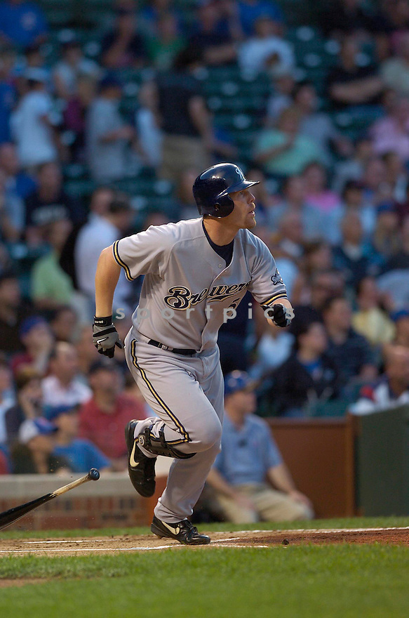 Geoff Jenkins, of the Milwaukee Brewers, during their game against the Chicago Cubs on July 12, 2006 in Chicago.....David Durochik / SportPics