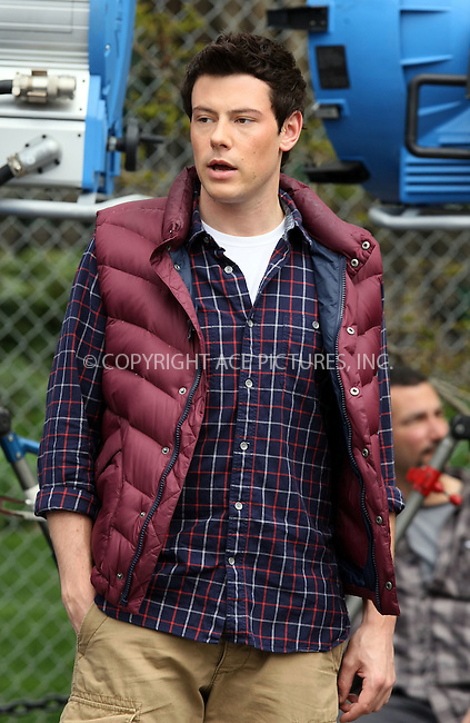 "WWW.ACEPIXS.COM . . . . .  ....April 29 2011, New York City....Cory Monteith on the set of the hot TV show ""Glee"" in Washington Square Park on April 29 2011 in New York City....Please byline: PHILIP VAUGHAN - ACE PICTURES.... *** ***..Ace Pictures, Inc:  ..Philip Vaughan (212) 243-8787 or (646) 679 0430..e-mail: info@acepixs.com..web: http://www.acepixs.com"