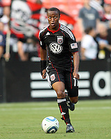 Boyzzz Khumalo #17 of D.C. United during an Open Cup match against Real Salt Lake at RFK Stadium, on June 2 2010 in Washington DC. DC United won 2-1.