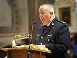 Superintendent Gerry Smith speaking at the SOSAD mass in the Augustinian church. Photo: Colin Bell/pressphotos.ie