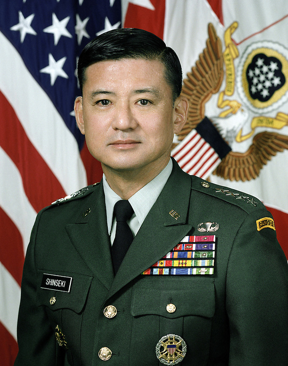 Portrait of US Army General Eric K. Shinseki, Vice Chief of Staff of the Army (uncovered)