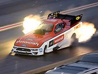 Jul 21, 2018; Morrison, CO, USA; NHRA funny car driver Bob Tasca III during qualifying for the Mile High Nationals at Bandimere Speedway. Mandatory Credit: Mark J. Rebilas-USA TODAY Sports
