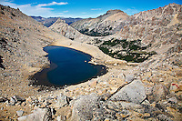 Laguna Schmoll stands in a basin above Refugio Frey in the Parque Nacional Nahuel Huapi, near Bariloche, Argentina.