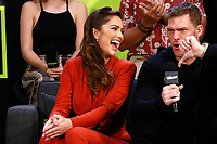 NEW YORK, NY - OCTOBER 5: Minka Kelly and Alan Ritchson at the Titans Cast Interview during the 2018 New York Comic Con at The Jacob K. Javits Convention Center in New York City on October 5, 2018. <br /> CAP/MPI99<br /> &copy;MPI99/Capital Pictures