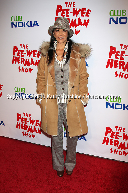 "Sheila E.arriving at the ""The Pee Wee Herman Show"" Opening Night..Club Nokia.Los Angeles, CA.January 20, 2010.©2010 Kathy Hutchins / Hutchins Photo...."
