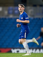Billy Gilmour of Chelsea U18 during the FA Youth Cup FINAL 1st leg match between Chelsea U18 and Arsenal U18 at Stamford Bridge, London, England on 27 April 2018. Photo by Andy Rowland.