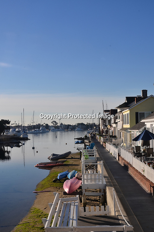 Stock Photo of Balboa Newport Beach California