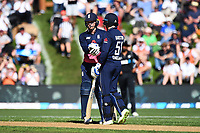England player Jonny Bairstow and Jason Roy during the 4th ODI Blackcaps v England. University Oval, Dunedin, New Zealand. Wednesday 7 March 2018. ©Copyright Photo: Chris Symes / www.photosport.nz