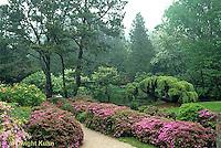 AC34-001a  Flower garden - Japanese style garden