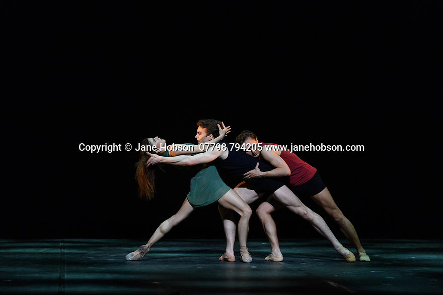 "Ivan Putrov presents ""Against the Stream"", a mixed bill of ballet, at the London Coliseum.  The piece shown is: ""Images of Love"". choreographed by Sir Kenneth MacMillan. The dancers are: Mathew Ball, Mayara Magri and Ivan Putrov."