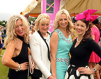 16-07-2015: Dr Maria Stack, Killarney, Anne Foley, Killorglin, Renate Cronin, KIllarney, and Maria Lynch, Tralee, at the Ross Hotel Lane Bar Cocktail and Champagne Bar  at Killarney Races ladies day on Thursday.  Picture: Eamonn Keogh (macmonagle.com)   NO REPRO FREE PR PHOTO