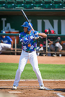 Jordan Paroubeck (22) of the Ogden Raptors at bat against the Billings Mustangs in Pioneer League action at Lindquist Field on August 16, 2015 in Ogden, Utah. Billings defeated Ogden 6-3.  (Stephen Smith/Four Seam Images)