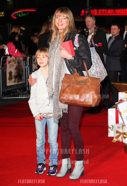Sara Cox and daughter Lola arriving for the Nativity 2: Danger In The Manger Premiere, at Empire Leicester Square, London. 13/11/2012 Picture by: Alexandra Glen / Featureflash