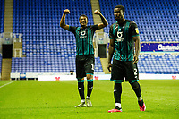 Rhian Brewster of Swansea City celebrates at full time during the Sky Bet Championship match between Reading and Swansea City at the Madejski Stadium in Reading, England, UK. Wednesday 22 July 2020.