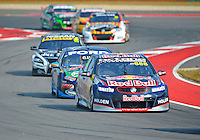 May 19, 2013 Craig Lowndes #888 of Red Bull Racing Australia leads a group of cars during V8 Supercars race 16 on day three of Austin 400 in Austin, TX.