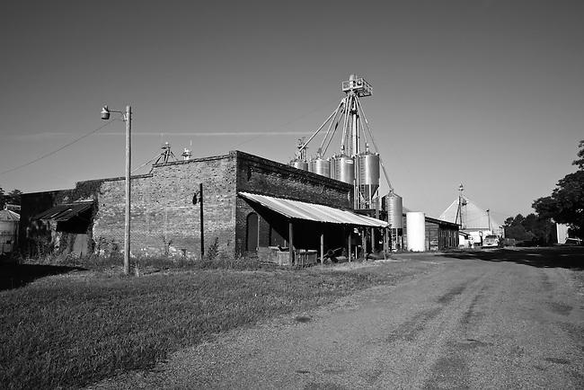 A feed mill in Bridgeboro, Georgia. May 30, 2011.