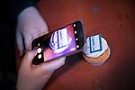 © Joel Goodman - 07973 332324 . 25/01/2018 . Leeds , UK . LeedsLive cupcakes at the Leeds Live launch party at Duke Studios , Sheaf Street . Photo credit : Joel Goodman