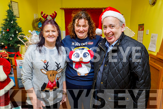 Eileen Courtney, Lisa Foley and Michael Kenny at the Turkey Gobbler fun day in the Castlemaine Family resource Centre on Sunday