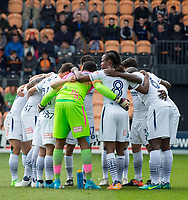Wycombe pre match team huddle during the Sky Bet League 2 match between Barnet and Wycombe Wanderers at The Hive, London, England on 17 April 2017. Photo by Andy Rowland.