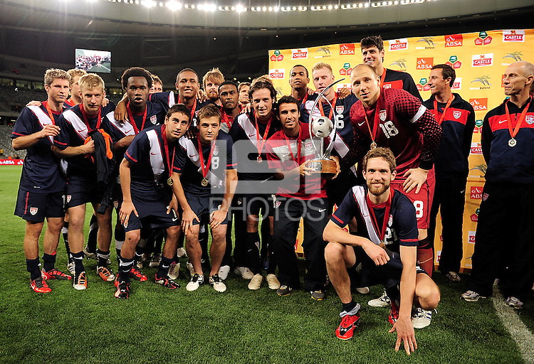 USA team after the Soccer match between South Africa and USA played at the Greenpoint in Cape Town South Africa on 17 November 2010.